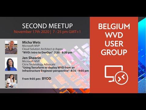Belgium Windows Virtual Desktop User Group November event