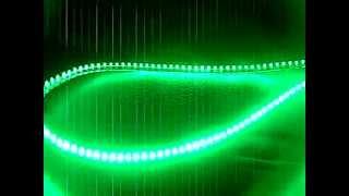 Светодиодная лента Advanta Extreme зелёная для тюнинга авто(Демонстрация работы сверхяркой гибкой светодиодной ленты для подсветки днища авто