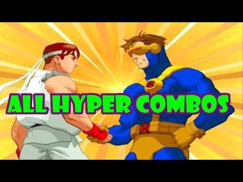X-Men Vs Street Fighter: All Hyper Combos