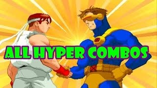 X-Men vs Street Fighter: All Hyper Combos