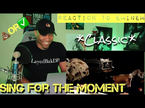 *CLASSIC* Eminem Sing For The Moment REACTION