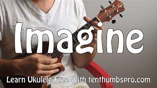 Imagine - John Lennon - How to play easy Ukulele beginner song tutorial