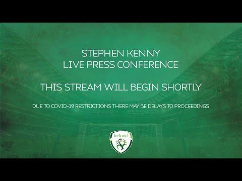 LIVE PRESS CONFERENCE | Stephen Kenny announces 26 man squad for Azerbaijan & Qatar games