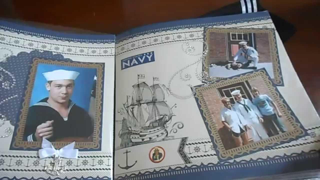 Scrapbook ideas military - Military Retirement Scrapbook Album