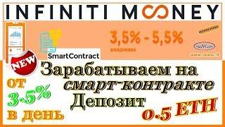 НЕ ПЛАТИТ. SCAM Infinity Мoney - Заработок на смарт-контракте: от 3.5% в день, 18.09.2018