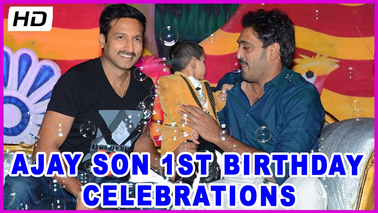 Celebrities ajay son 1st birthday celebrations hd youtube thecheapjerseys Image collections