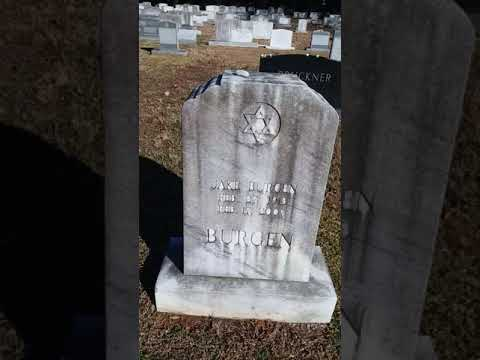 Eight Southwestern Rows Of Beth Israel Cemetery Of Greenville South Carolina