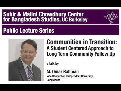 Communities in Transition - A student centered approach to Long Term Community Follow Up