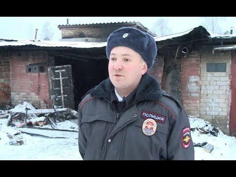В Вологодской области участковый уполномоченный полиции спас мужчину от гибели на пожаре