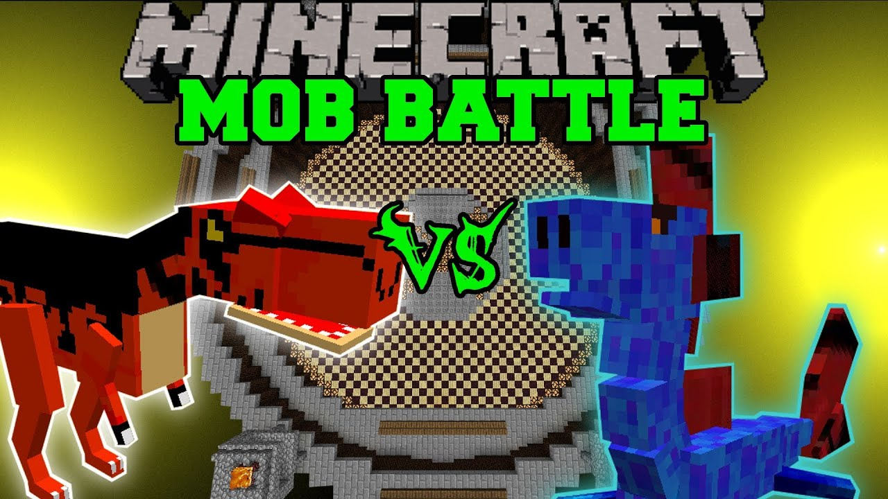 WATER DRAGON VS ALOSAURUS Minecraft Mob Battles Arena
