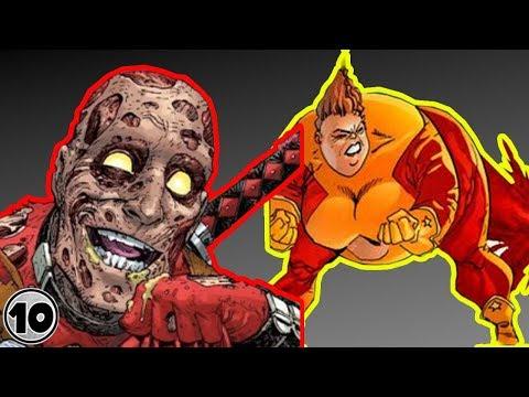 Top 10 Superheroes With Disgusting Super Powers