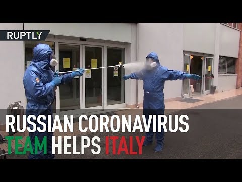Driving COVID-19 away | Russian military disinfect retirement homes in Lombardy