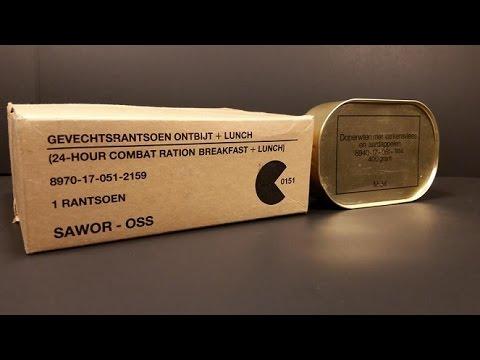 1985 Dutch 24hr Ration MRE Review Vintage Taste Testing Military Combat Food Pack Oldest Eaten