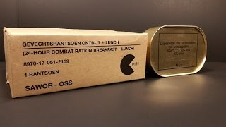 1985 Dutch 24hr Ration MRE Review Vintage Taste Testing Military Combat Food Pack Oldest Eaten