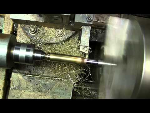 Turning 50 bmg brass necks on a cnc lathe