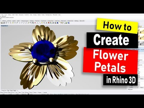 How TO Build Flower Petals in Rhino 6: Rhino Jewelry CAD Design Tutorial #73 (2019) thumbnail