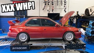 homepage tile video photo for The Subaru Gets Big Power Mods and Tuned on the Dyno! *1-3 Gear Street pulls!*