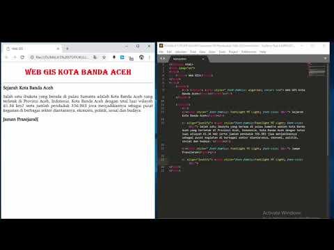 Pembuatan Web GIS Dengan HTML, CSS, Dan Java Script