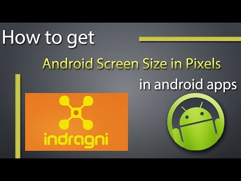 How to Get Android Screen Size in Pixels and Inches Programmatically