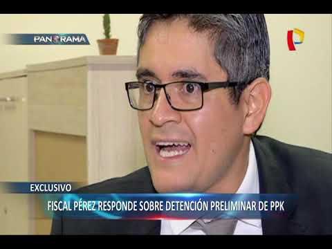 EXCLUSIVO | Fiscal Pérez explica controvertida detención preliminar a PPK
