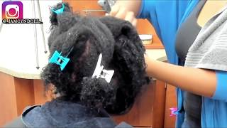SILK PRESS ON EXTRMELY MATTED HAIR