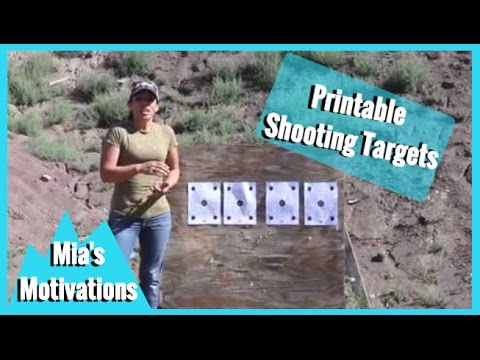 Shooting - Paper Targets for Sighting Firearms | Mia's Motivations