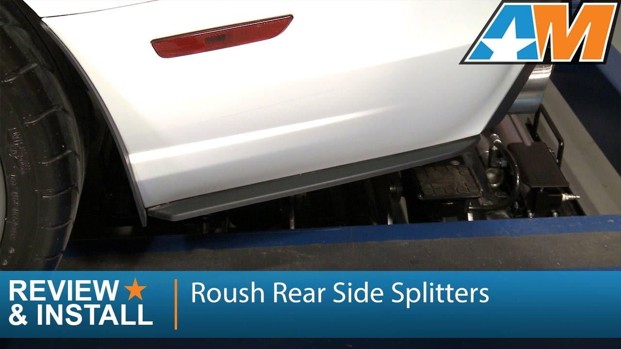 2013 2014 mustang roush rear side splitters review install