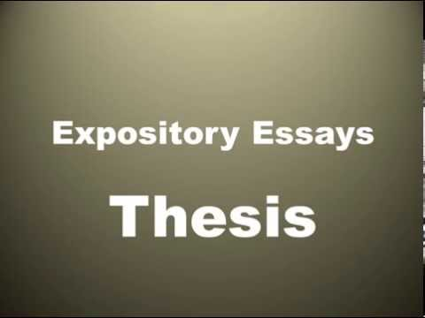 thesis in expository writing  youtube thesis in expository writing