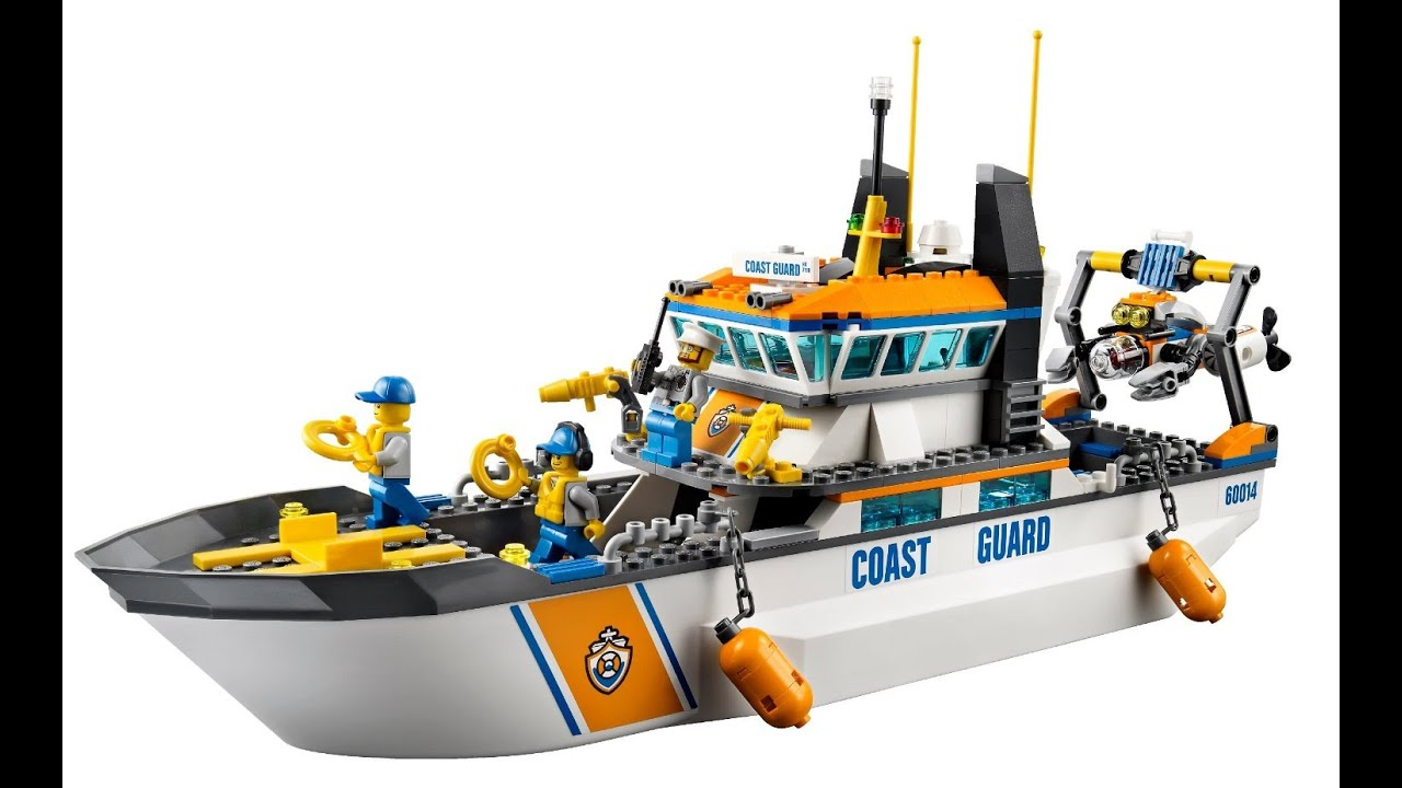 lego city garde ctire patrouille bateau et la tour jouets pour enfants youtube - Lego City Bateau