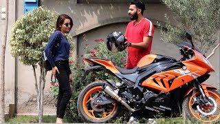 PICKING UP UBER RIDERS ON A BMW HEAVY BIKE PRANK | Haris Awan