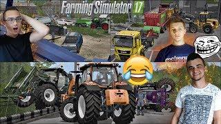 ☆Farming Simulator 17☆Zapasy Valtrami, Wyścigi Pickupami + Latająca Ładowarka   ㋡ MafiaSolecTeam
