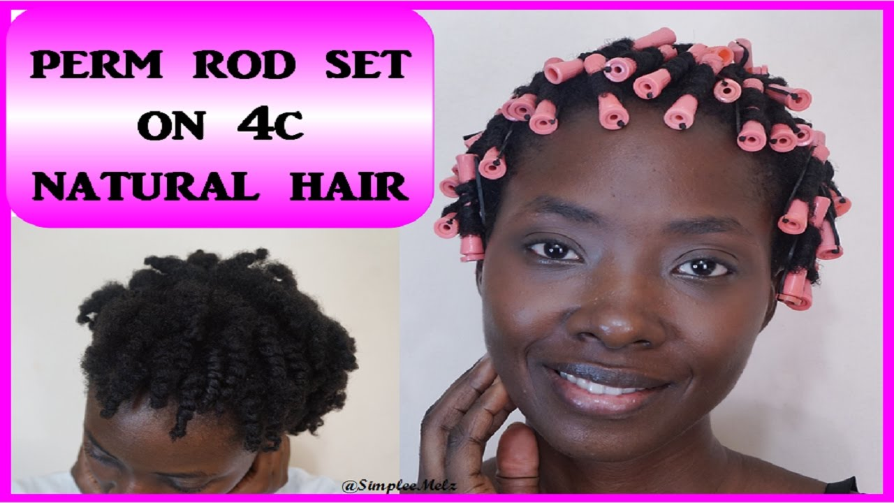 Perm Rod Set On Fine 4c Natural Hair 2 Products Styles Simply Naturabelle