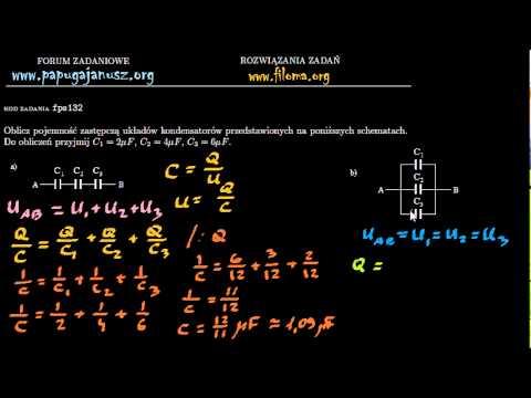 nowy design oficjalne zdjęcia ponadczasowy design fpe132 - Pojemność zastępcza kondensatorów - Zadanie z fizyki - filoma.org