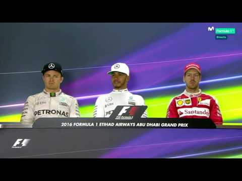 F1 2016 Abu Dhabi GP - Post Race Press Conference -