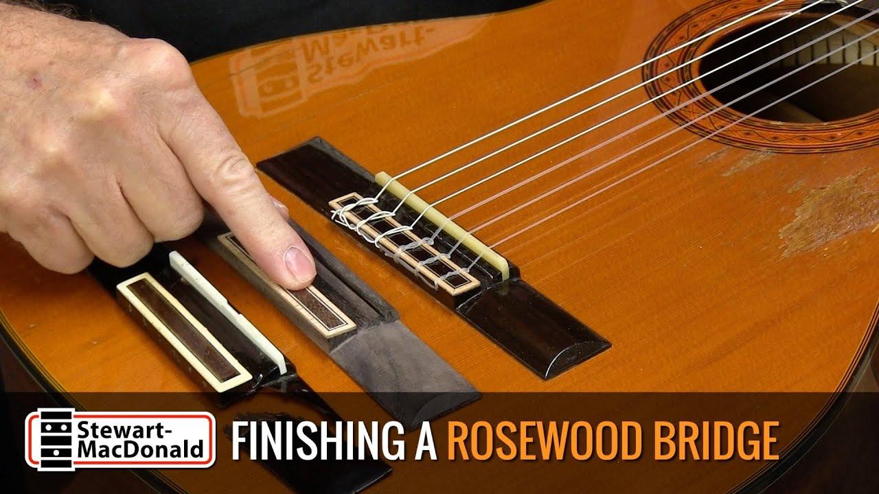 NEW Acoustic Saddle Through Bridge Rosewood No Finish