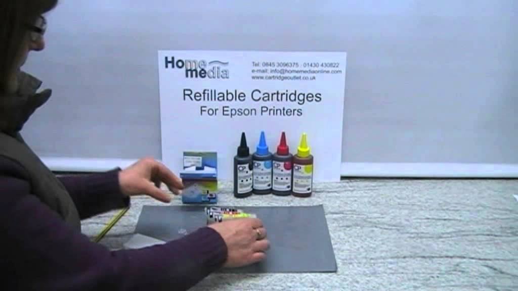 Filling Epson Refillable Cartridges