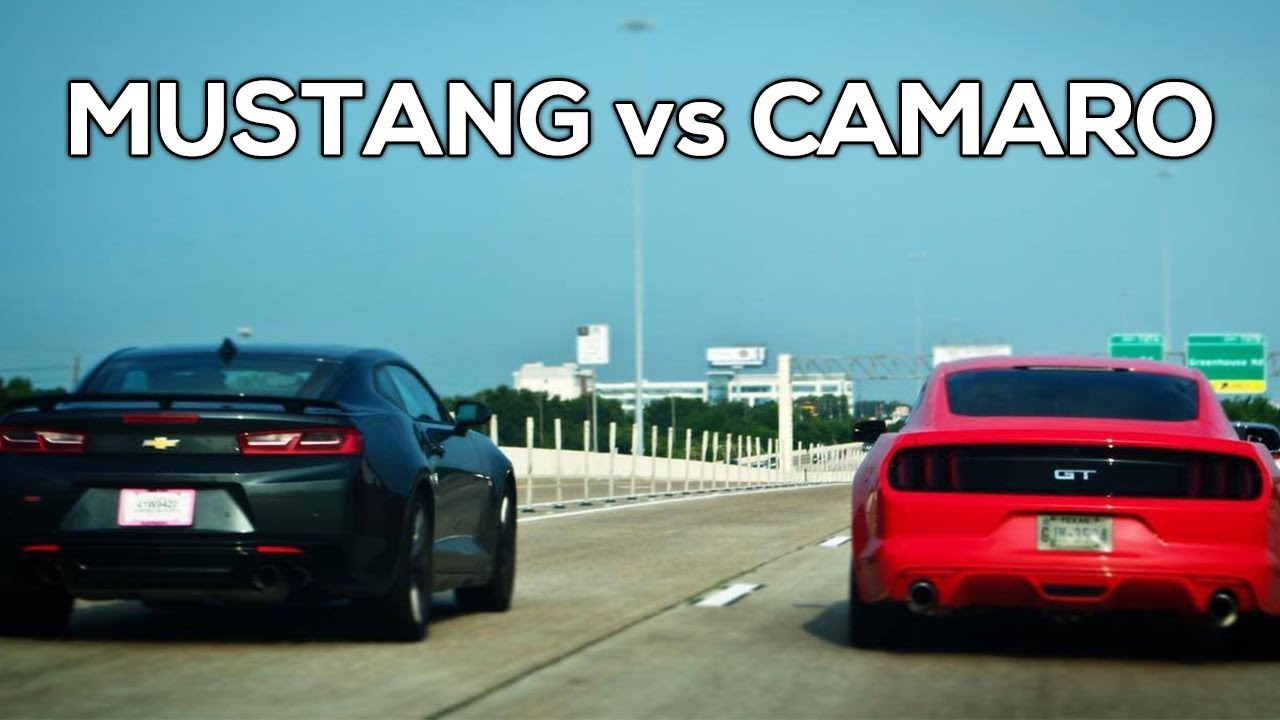 2017 Ford Mustang Gt Vs Chevy Camaro Ss 1 4 Mile Acceleration Exhaust More