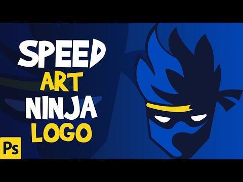 Speedart Fortnite Ninja Logo  Photoshop | Ninja Mascot Logo [ FREE ]