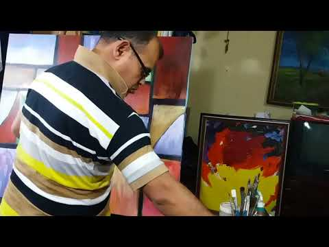 beautiful painting,How to Paint  abstract painting with Palette Knife Techniques, Acrylic Painting,