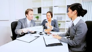 Boardroom Meeting Business Executives. Stock Footage