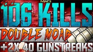 MW3 - 106 GUNSTREAK on BOOTLEG! By DooM Garge - The Costs of Doing Youtube __Modern Warfare_