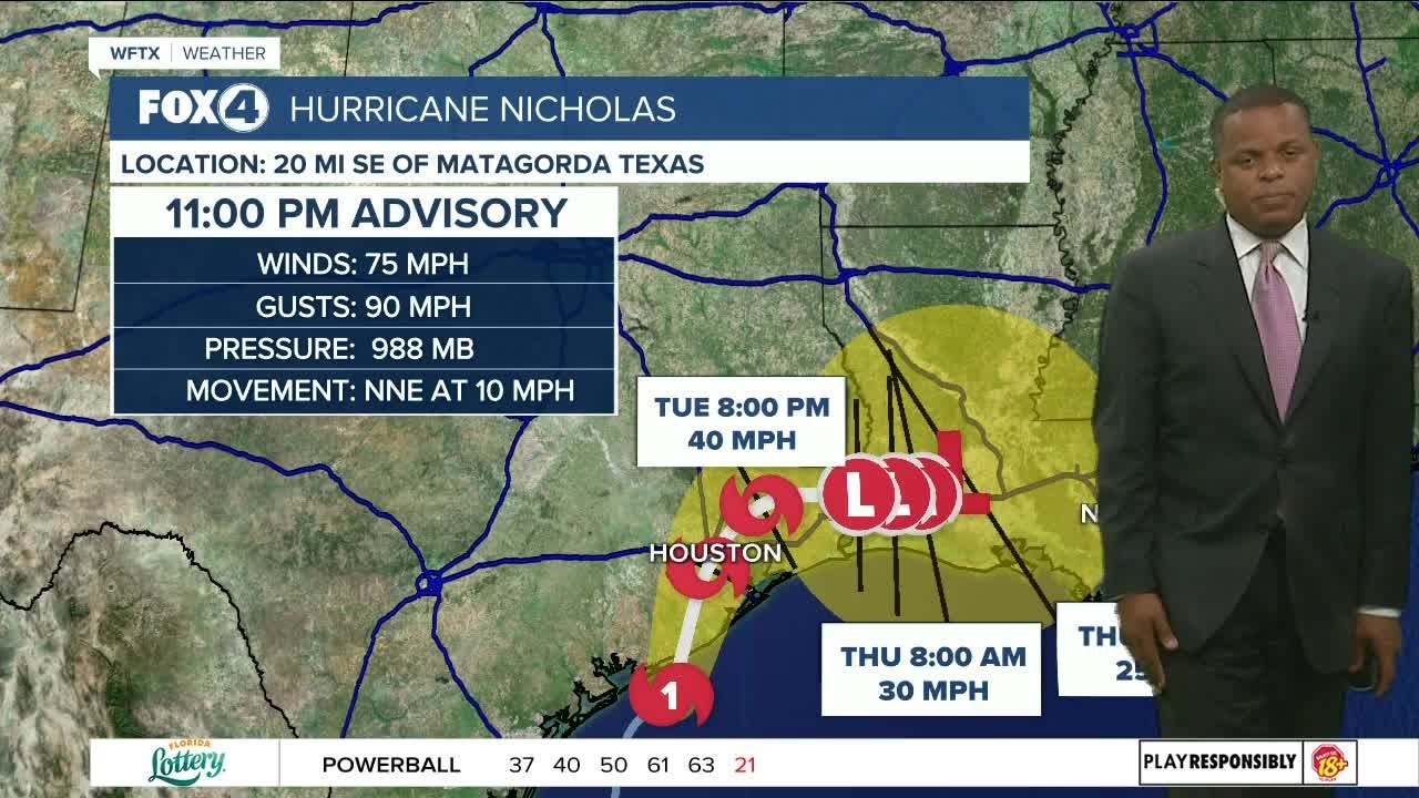 Download Nicholas becomes a hurricane...11 PM Update