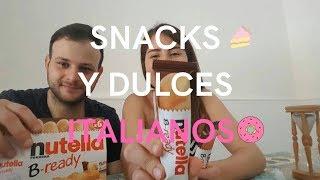 Probando SNACKS Y DULCES Italianos Venezolanos Probando Dulces En Italia