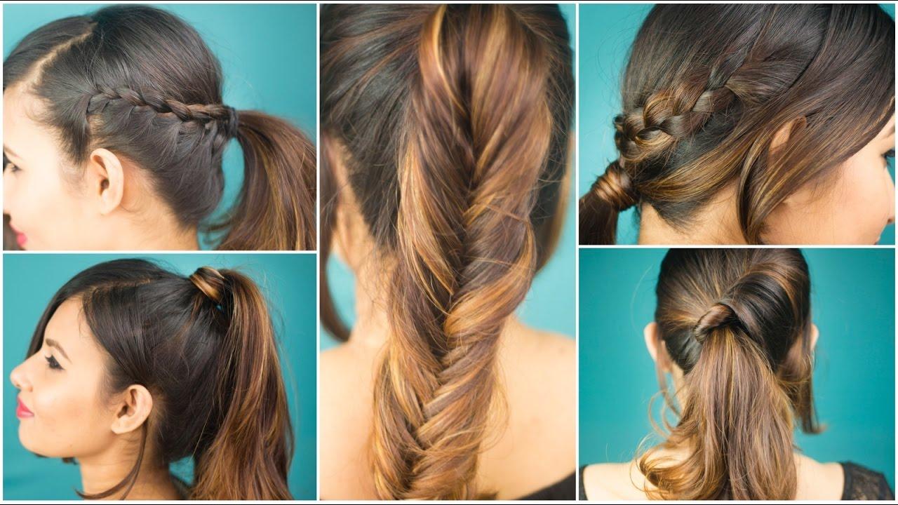 Quick Ponytail Hairstyles 5 Quick Easy Ponytail Hairstyles Sonal Sagaraya Giveaway