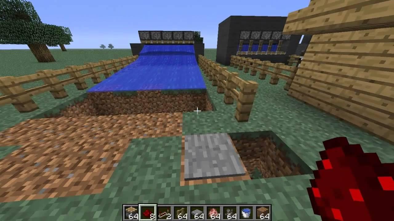 Como hacer una granja de cerdos y vacas automatica hd for Como hacer una granja de peces
