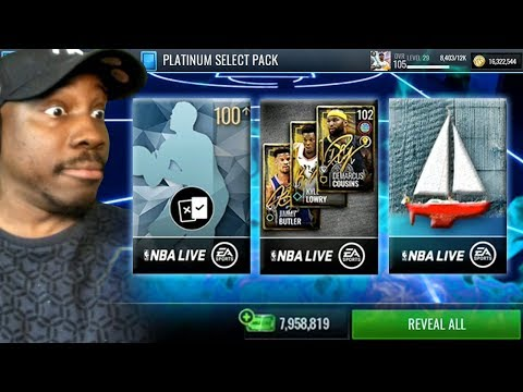 100+ OVR Pulls In HUGE Variety Pack Opening! NBA Live Mobile 19 Season 3 Ep. 101