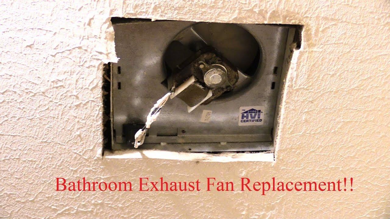 how to change bathroom exhaust fan easy