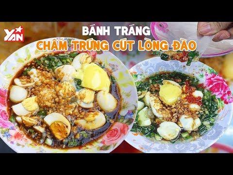Bánh Tráng Chấm Trứng Cút Lòng Đào | Món Ngon Yan Food