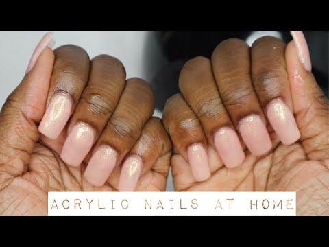 HOW TO DO ACRYLIC NAILS AT HOME | NAIL TUTORIAL thumbnail