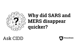 Why did SARS and MERS disappear quicker? | Ask CIDD